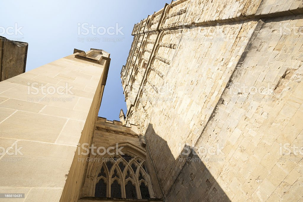 Towering turrets stock photo