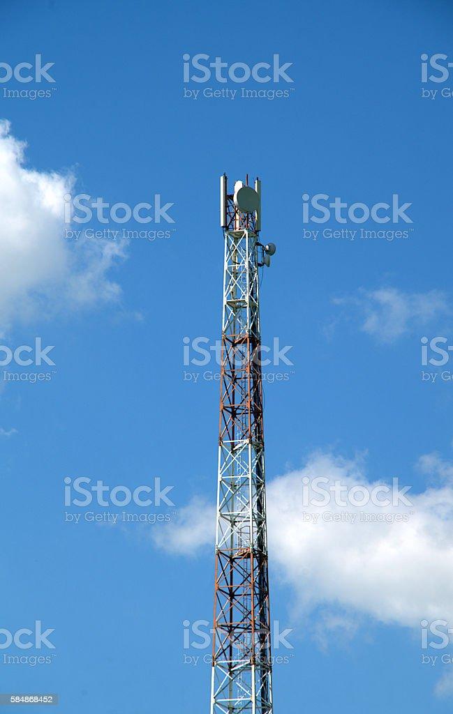 Towers and antennas stock photo