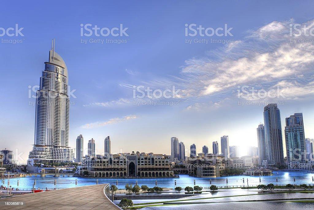 towers cityscape - Dubai HDR stock photo
