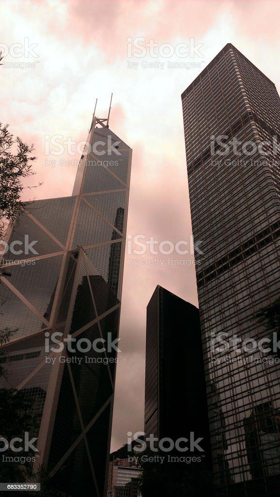 Towers, Hong Kong stock photo
