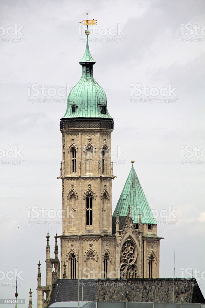 Towers of Andreas Church Braunschweig stock photo