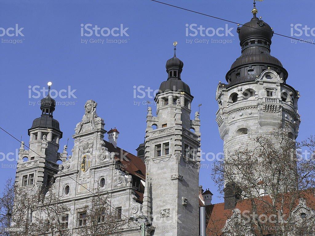 ライプチヒの市庁舎タワー ロイヤリティフリーストックフォト