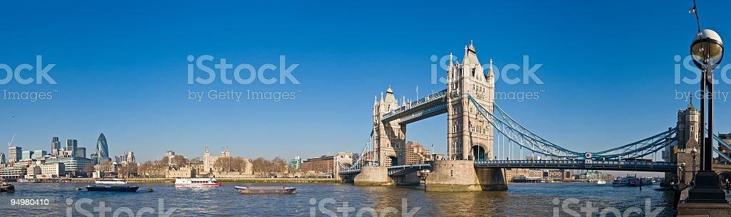 Towers of London panorama royalty-free stock photo