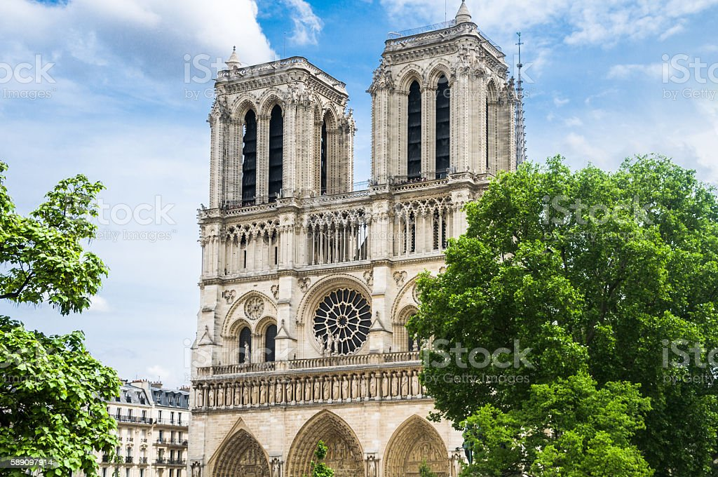 Towers of Notre Dame stock photo