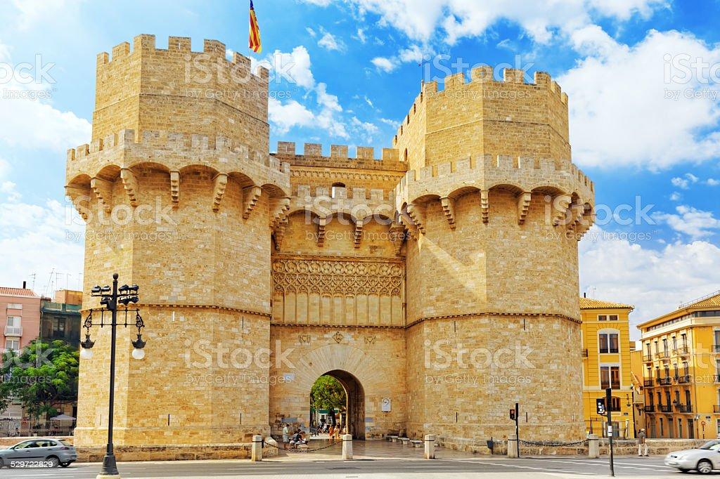 Towers of Serranos in  Valencia stock photo
