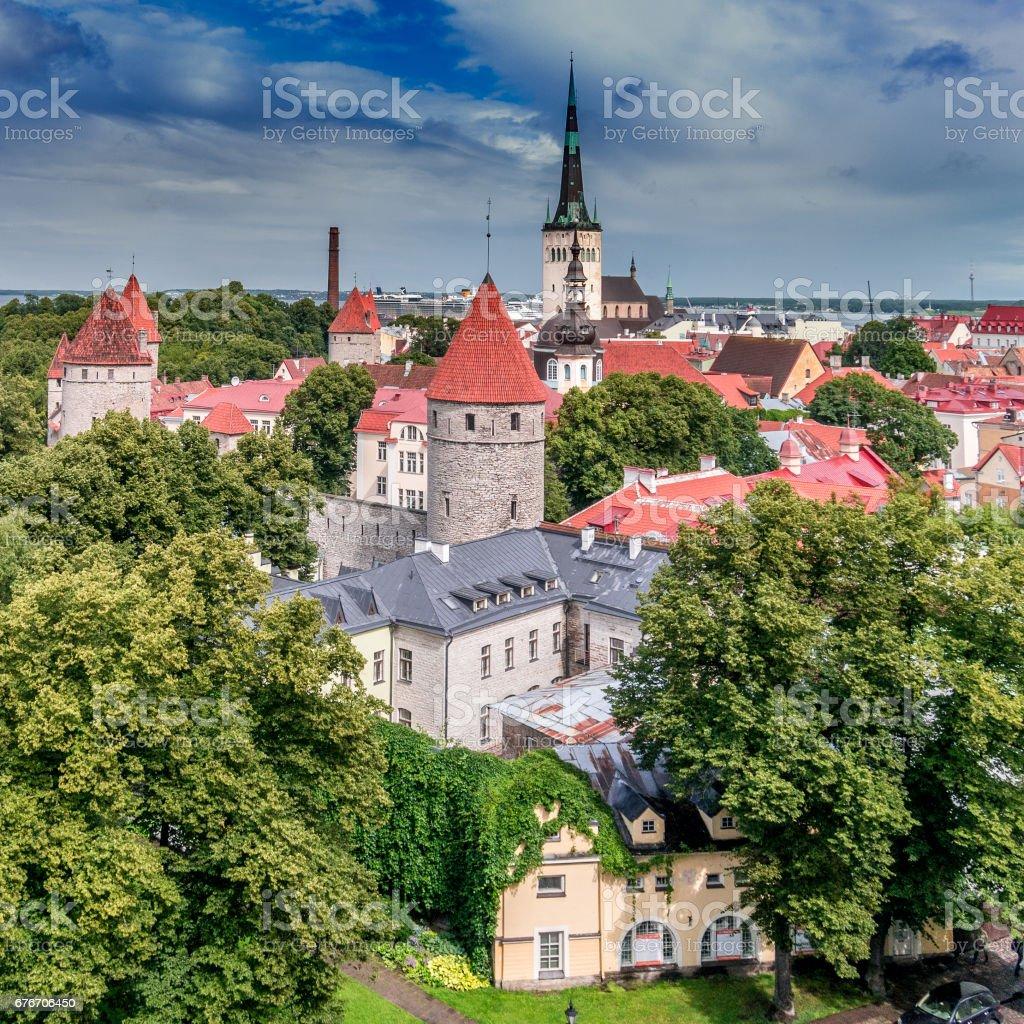 Towers of Tallinn stock photo