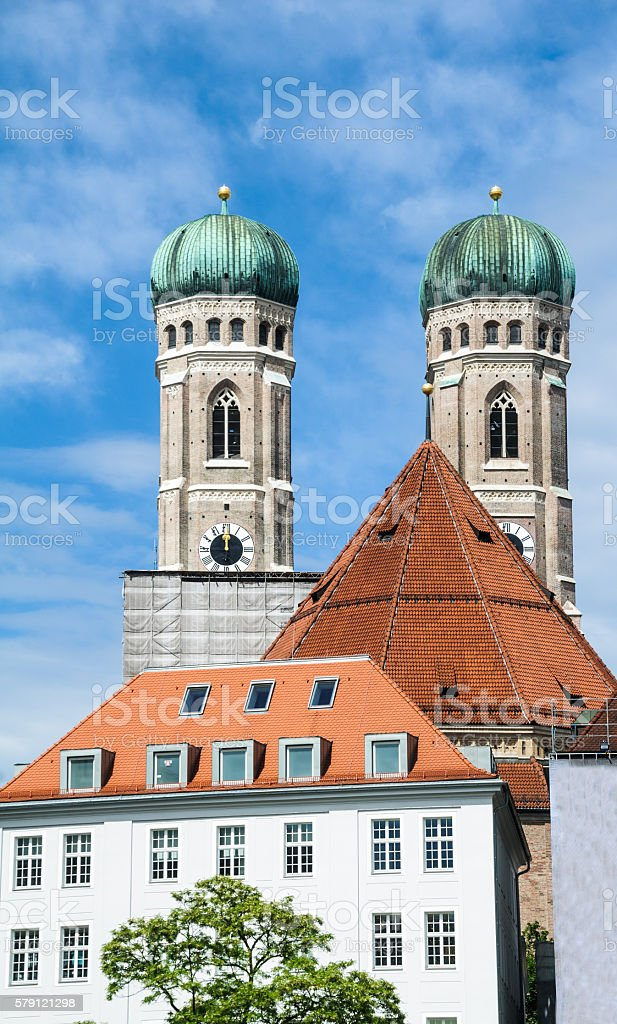 Towers of the Frauenkirche stock photo