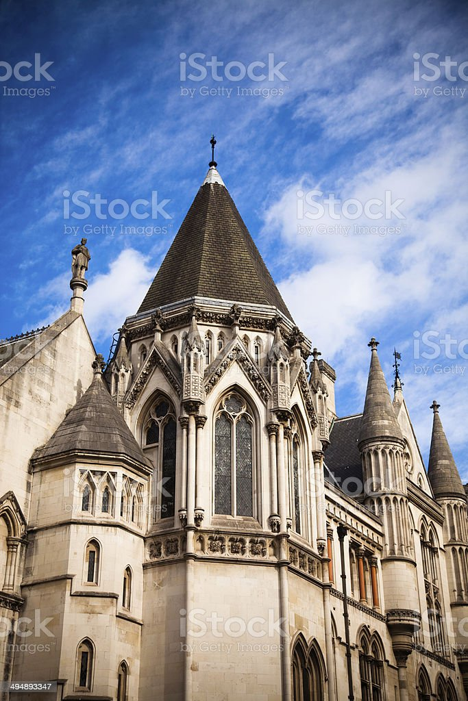 Towers of the Royal Courts of Justice stock photo