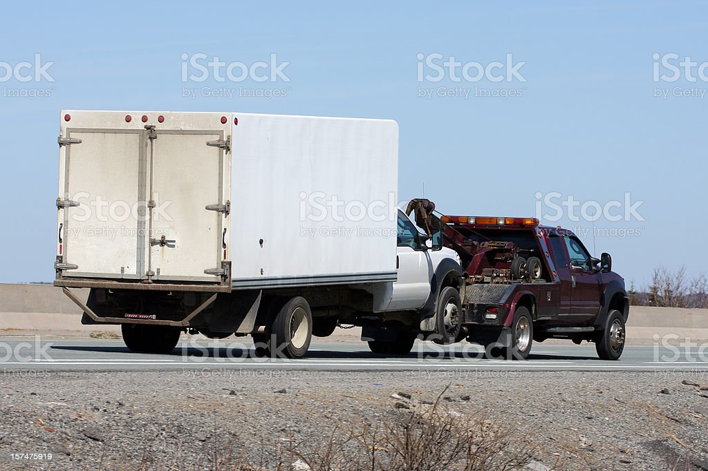 Towing A Truck royalty-free stock photo