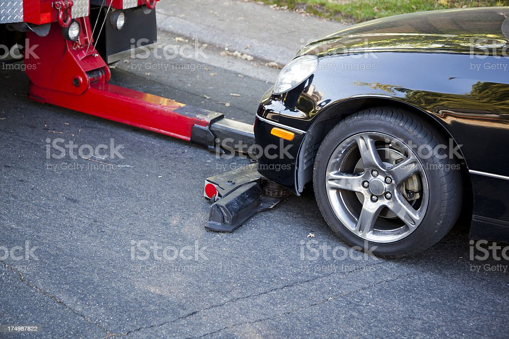 Towing Away Car stock photo