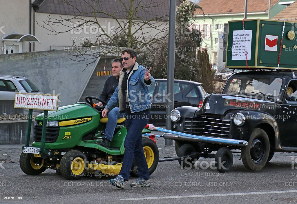 Towing Bonnie and Clyde stock photo
