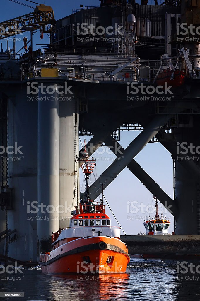 Towing platform royalty-free stock photo