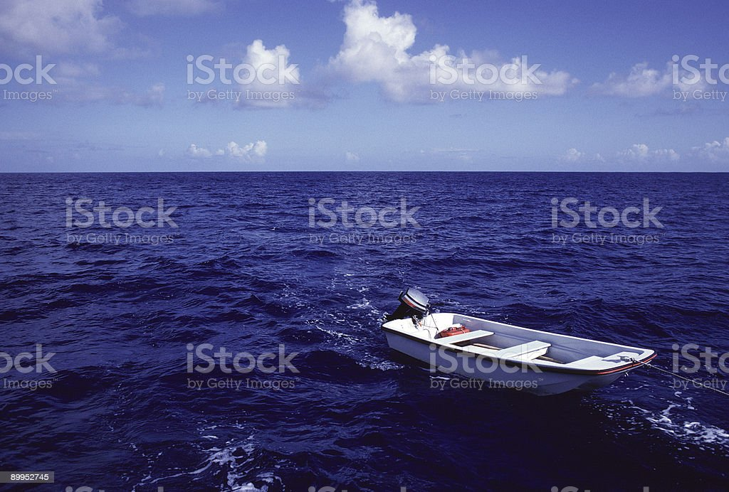 Towing the Skiff royalty-free stock photo