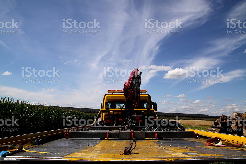 towing truck stock photo