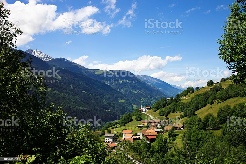Town and Church of Dardin (XXXL) royalty-free stock photo