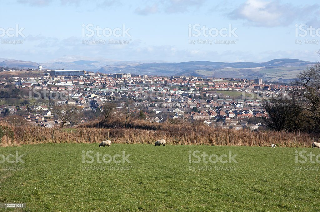 Town and country a royalty-free stock photo