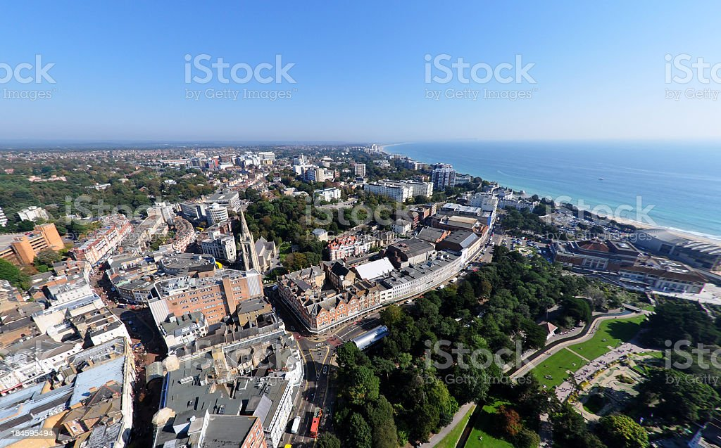 Town and East Cliff - Bournemouth stock photo