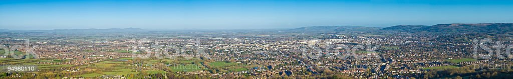 Town and suburb panorama royalty-free stock photo