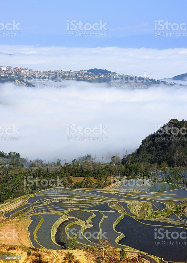town and terraces royalty-free stock photo
