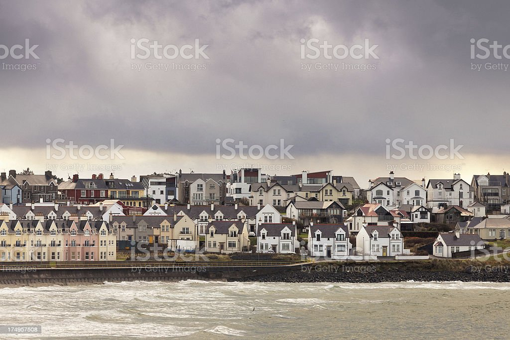 Town at the sea stock photo