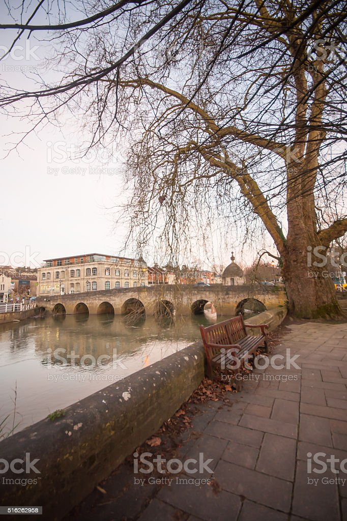 Town Bridge in Bradford on Avon stock photo