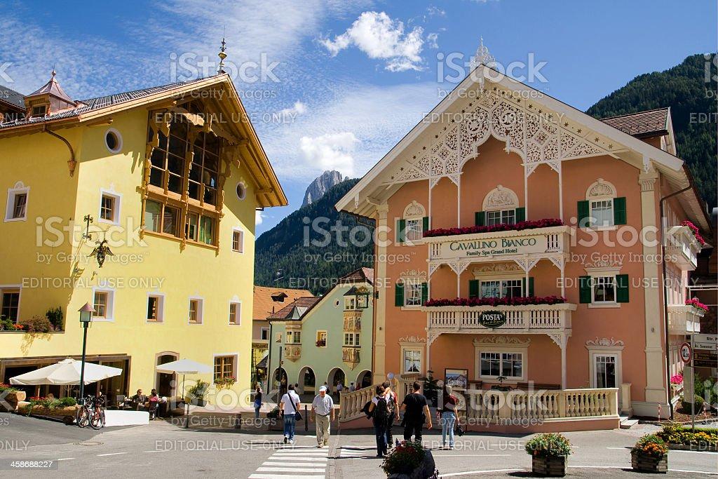 Town center of Ortisei royalty-free stock photo