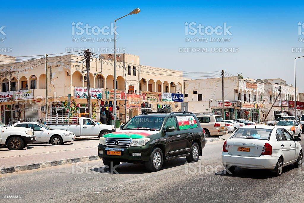 Town centre in Salalah stock photo