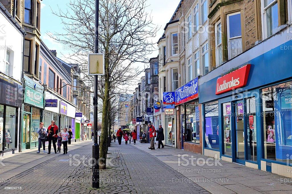 Town Centre, Morecambe, Lancashire royalty-free stock photo