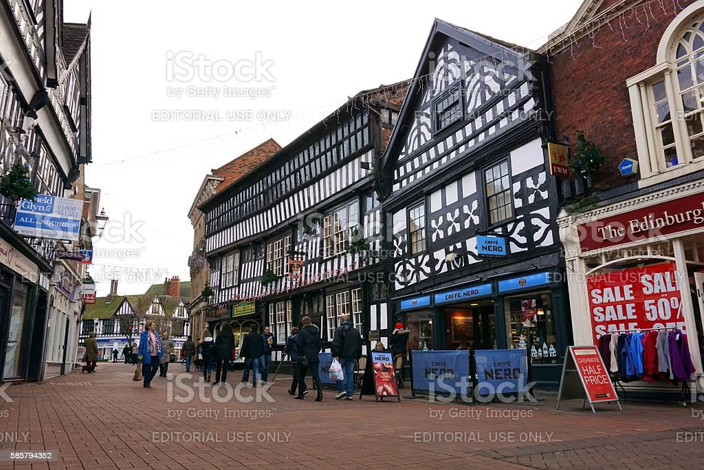 Town Centre, Nantwich, Cheshire, England stock photo