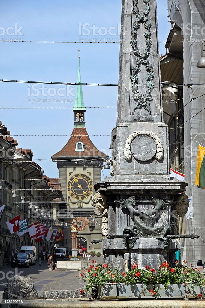 Town centre of Berne, Switzerland royalty-free stock photo