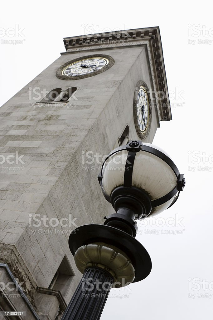 Town clock and War Memorial royalty-free stock photo