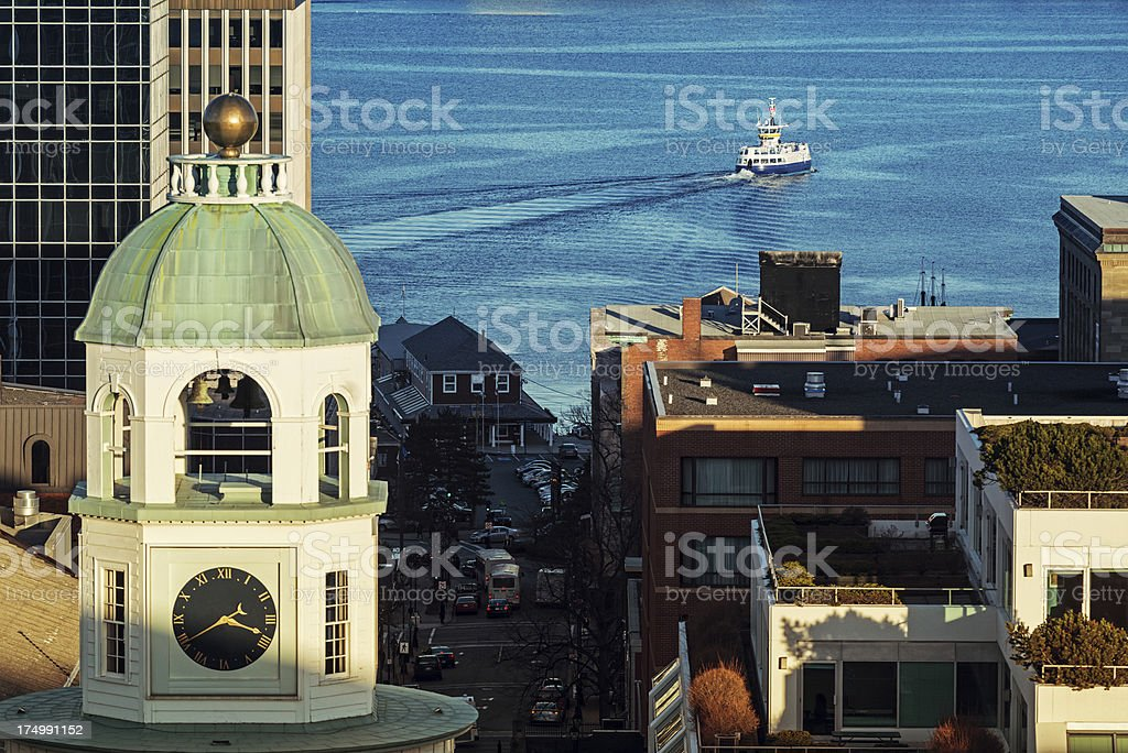 Town Clock stock photo