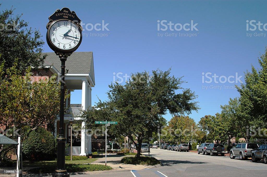Town Clock V2 stock photo