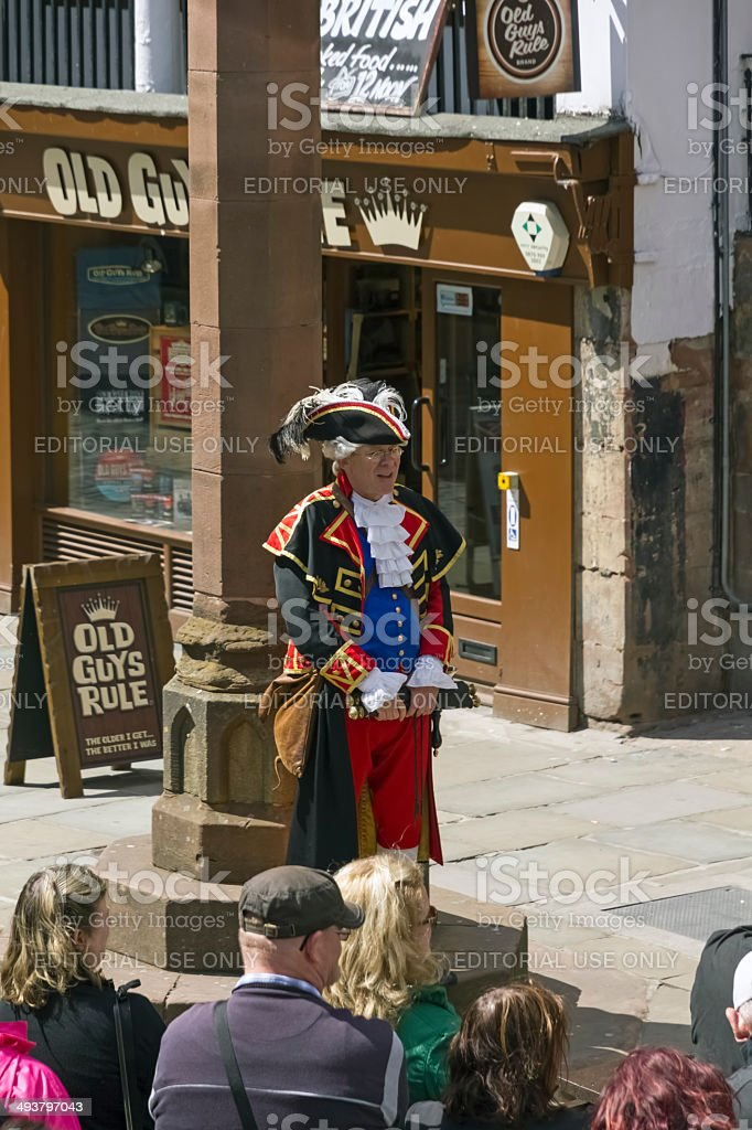 Town Crier Chester stock photo