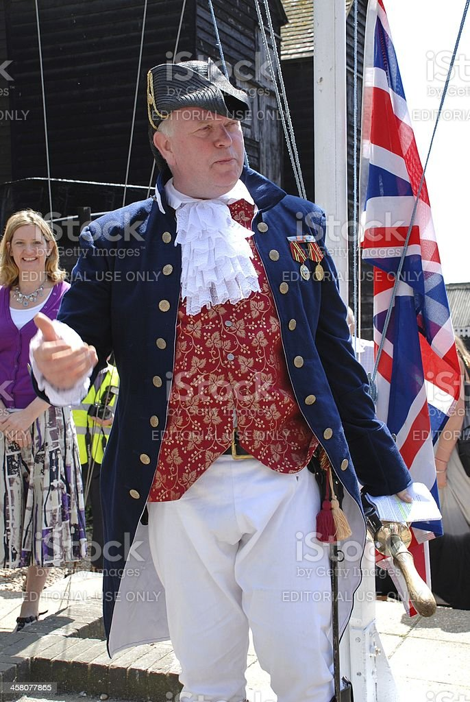 Town Crier, Hastings stock photo