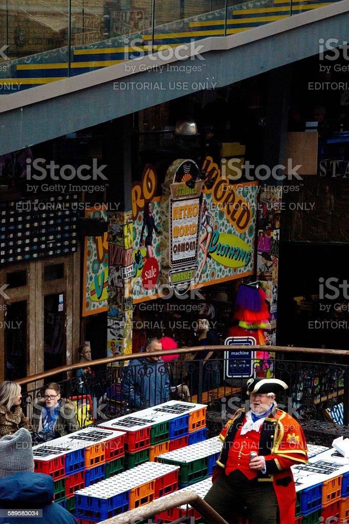 Town Crier stock photo