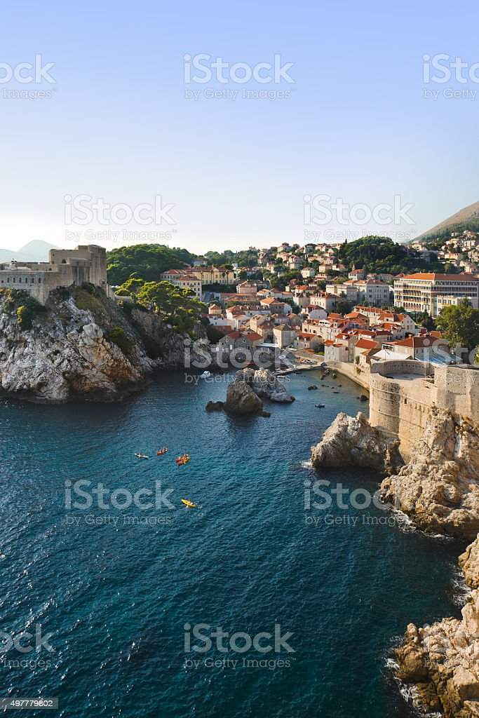 Town Dubrovnik in Croatia stock photo
