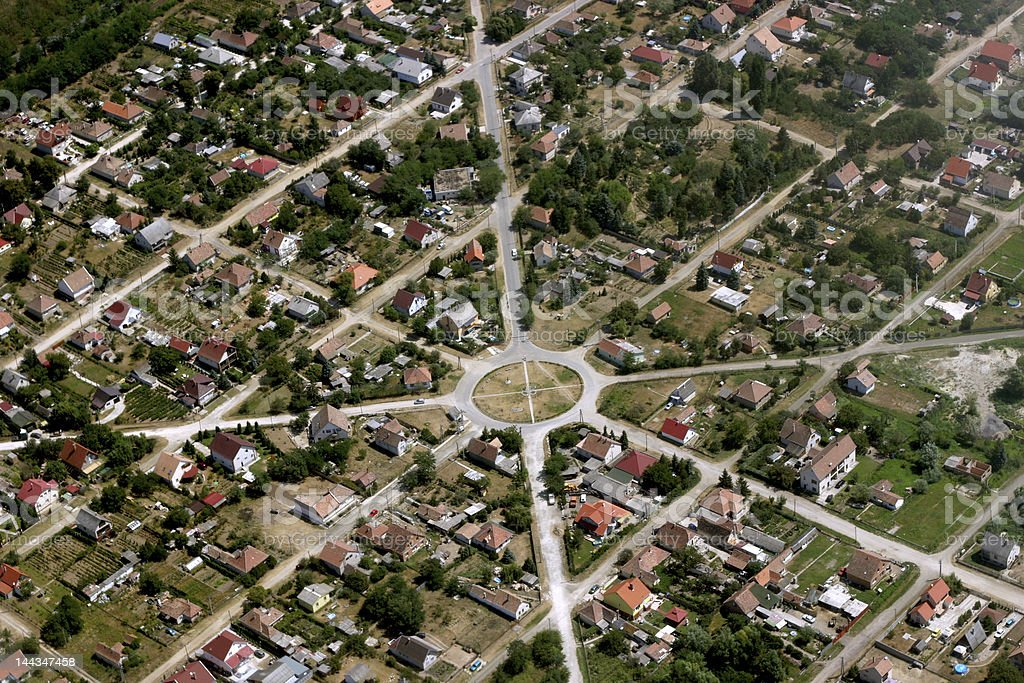 town from the air royalty-free stock photo