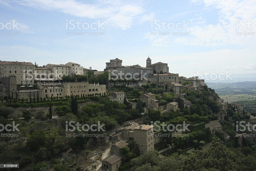 Town Gordes Provence Summer stock photo