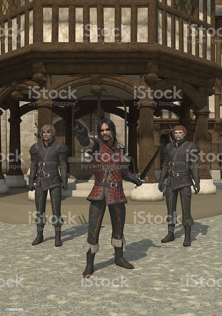 Town Guards royalty-free stock photo
