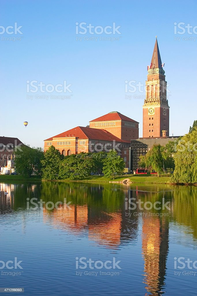 Town hall and opera of Kiel, Germany stock photo