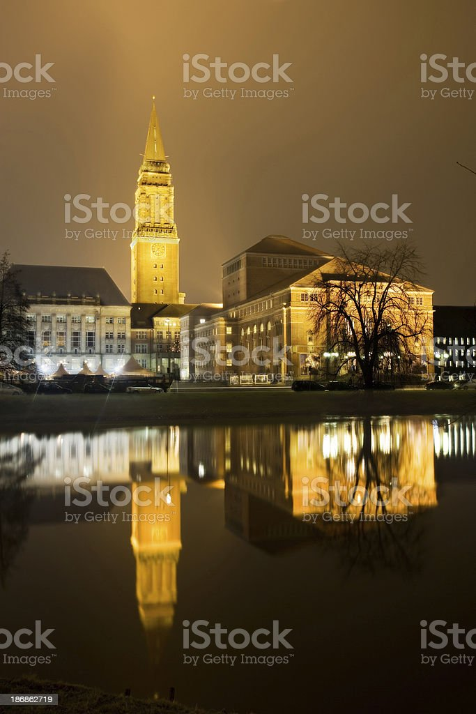 Town hall and opera of Kiel/Germany stock photo
