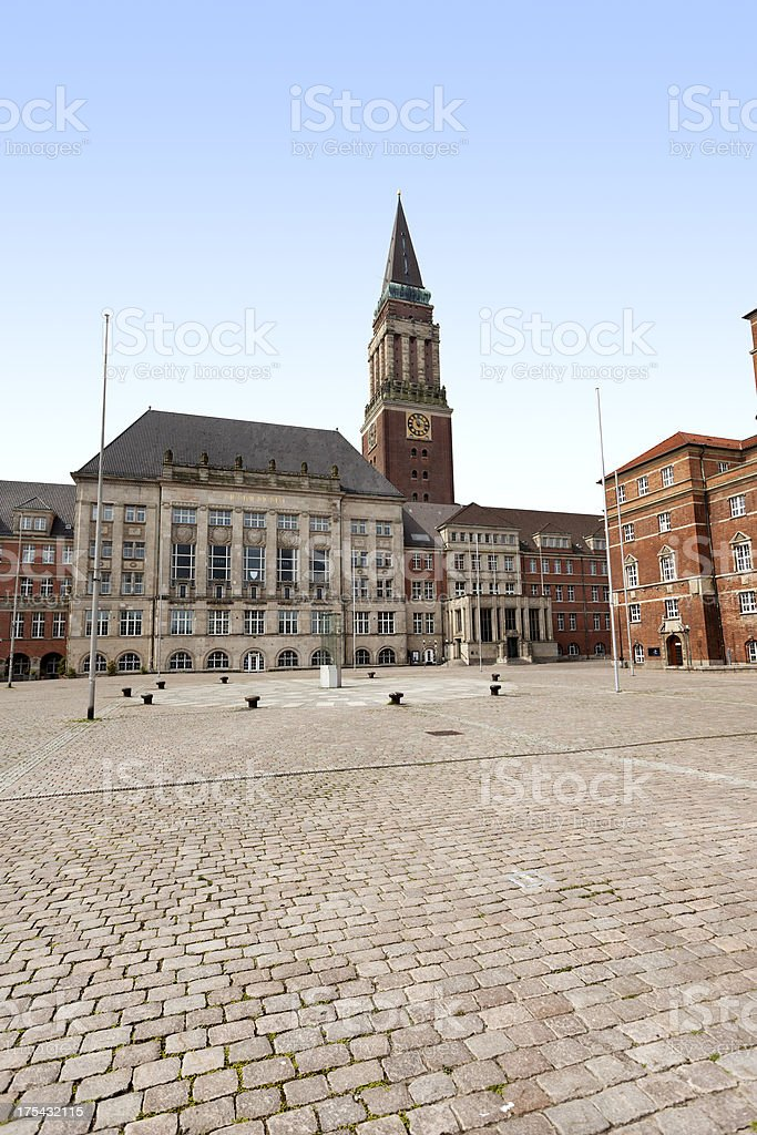 Town hall and theatre Kiel, Germany stock photo