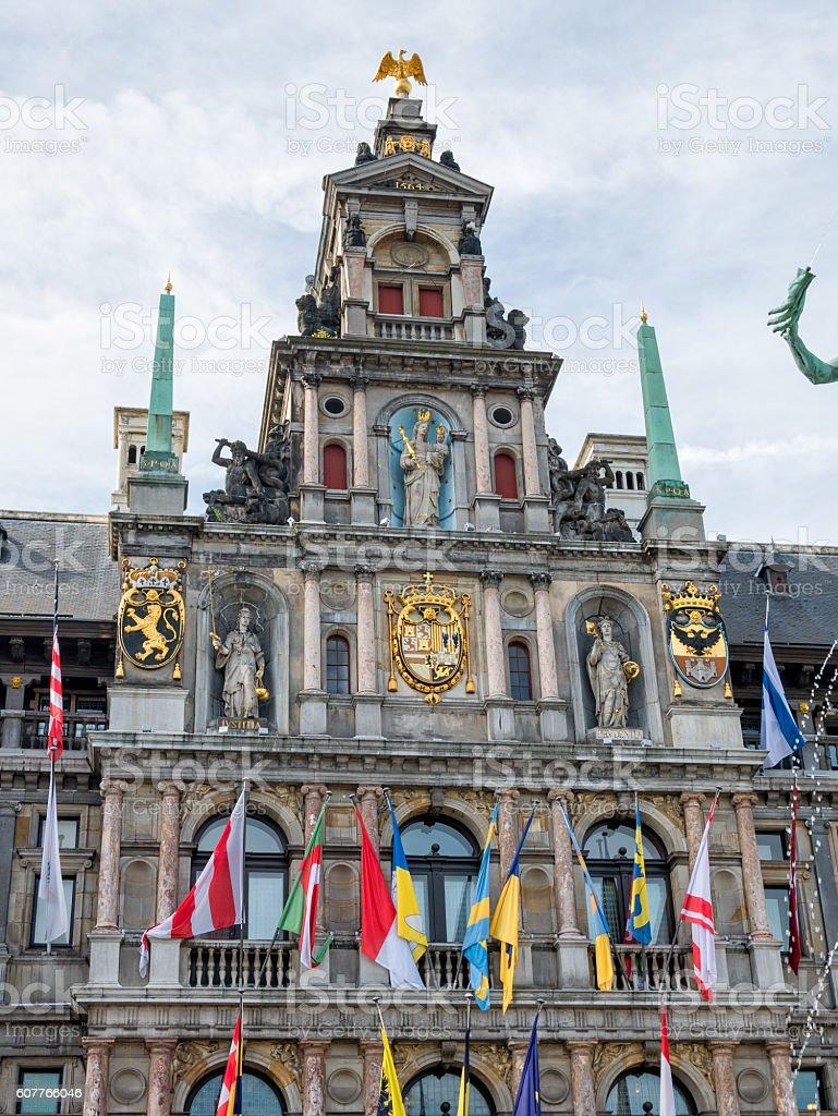 Town Hall, Antwerp stock photo