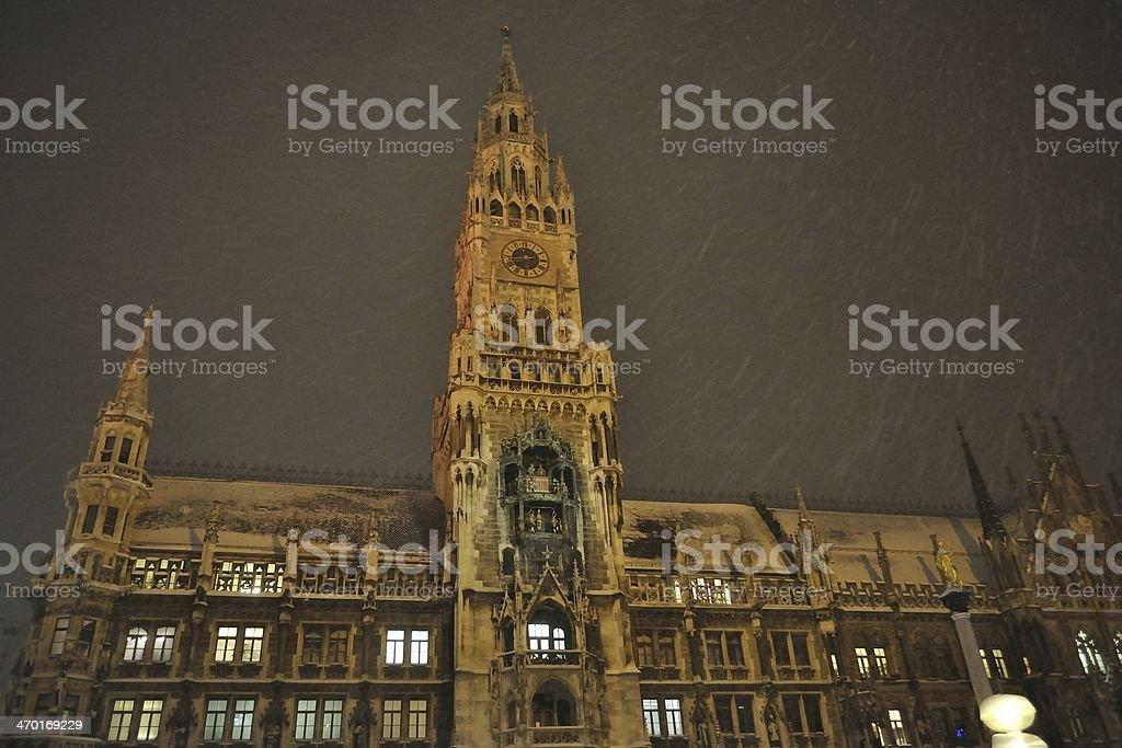 Ratusz przy placu Marienplatz w Monachium zbiór zdjęć royalty-free