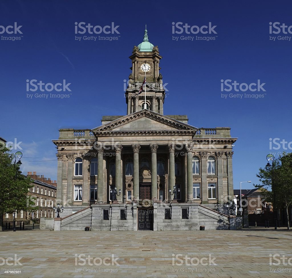 Town Hall building in England, Birkenhead stock photo