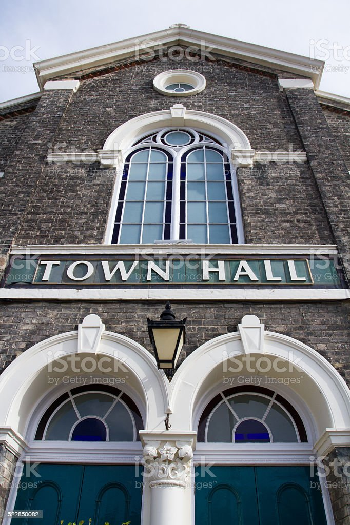 Town Hall Building stock photo