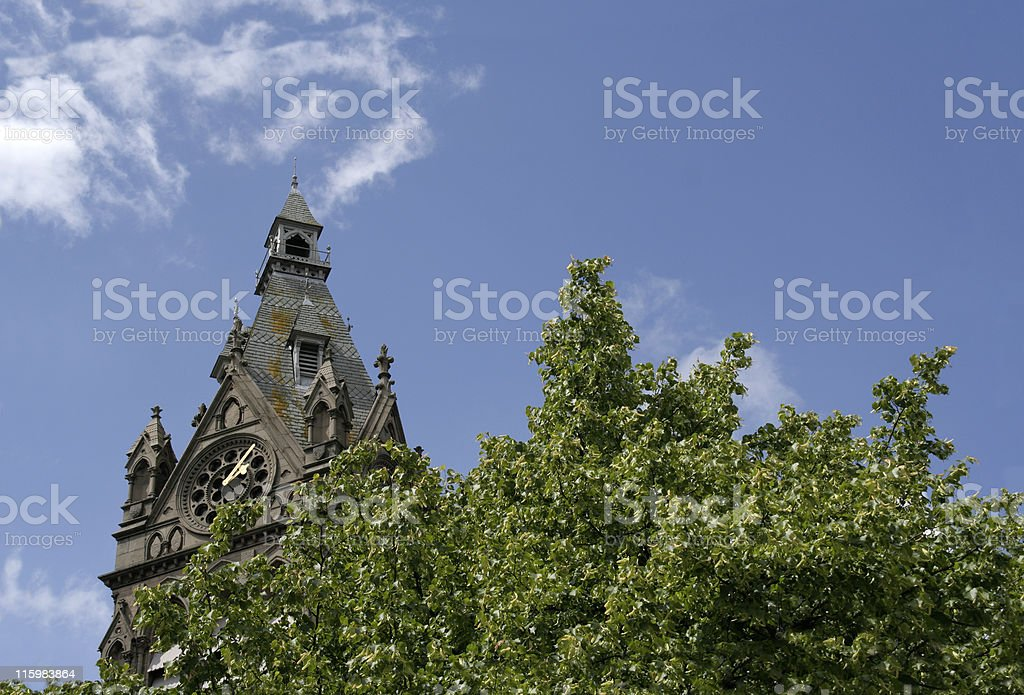 Town Hall Clock royalty-free stock photo
