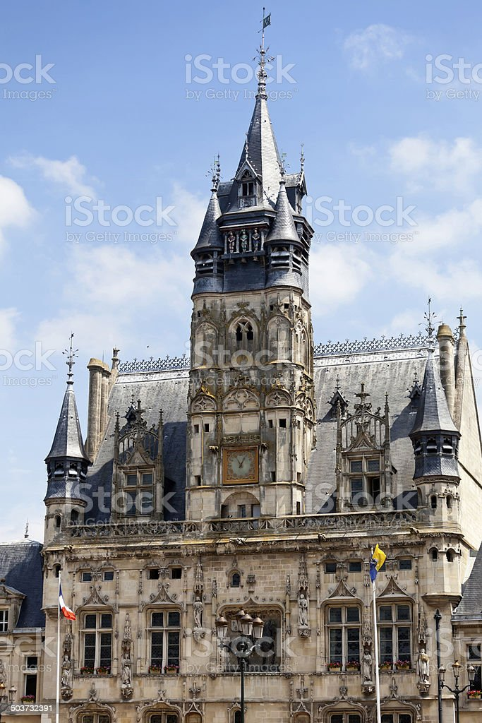 Town Hall Compiegne Picardy stock photo