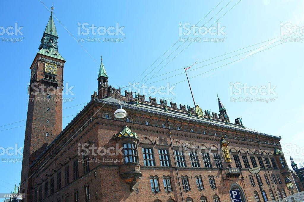 Ayuntamiento copenaghen foto de stock libre de derechos